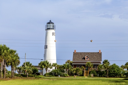 Lighthouse on the Gulf of Mexico in Eastpoint