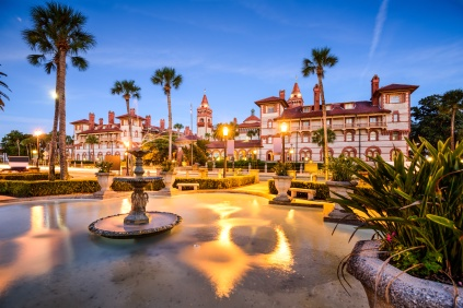 St. Augustine, Florida, USA townscape at Alcazar Courtyard.